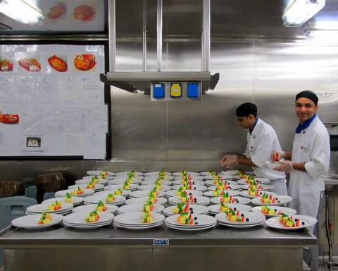 Prepping Food in the Galley on the Horizon