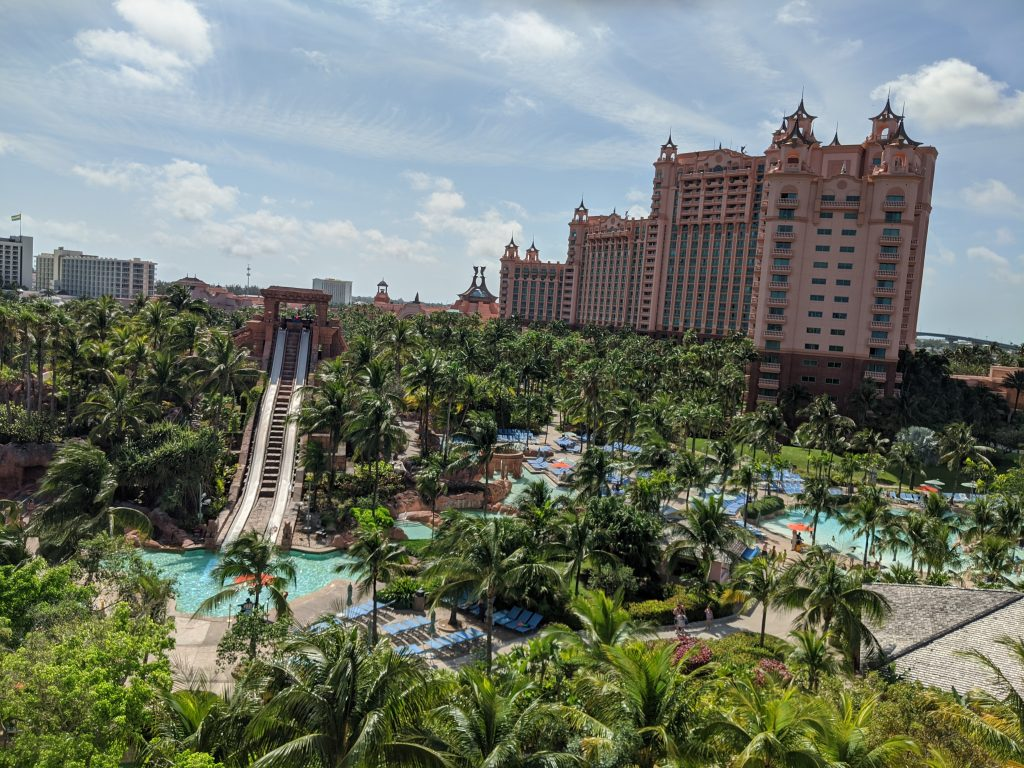 The dueling slides on the Mayan Temple at Atlantis Aquaventure