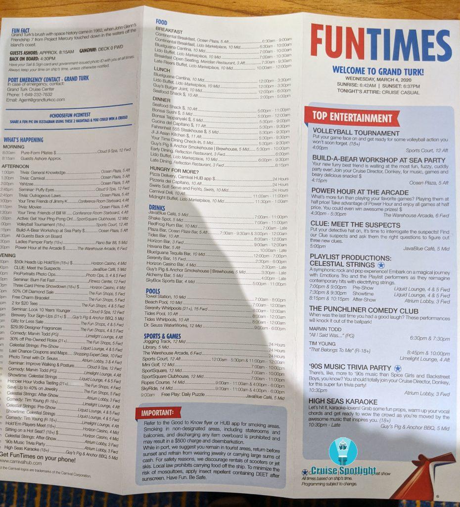 Fun Times - Day 4 Grand Turk - Mar 2020 - Page 1