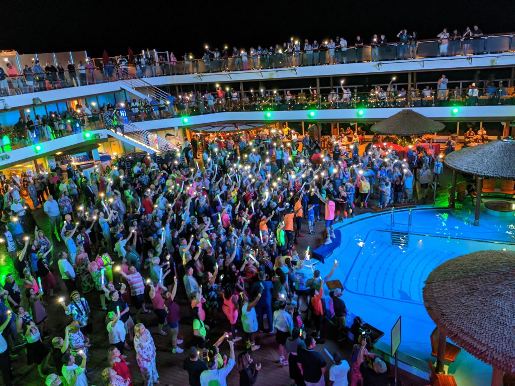 Rock and Glow Deck Party on the Carnival Horizon