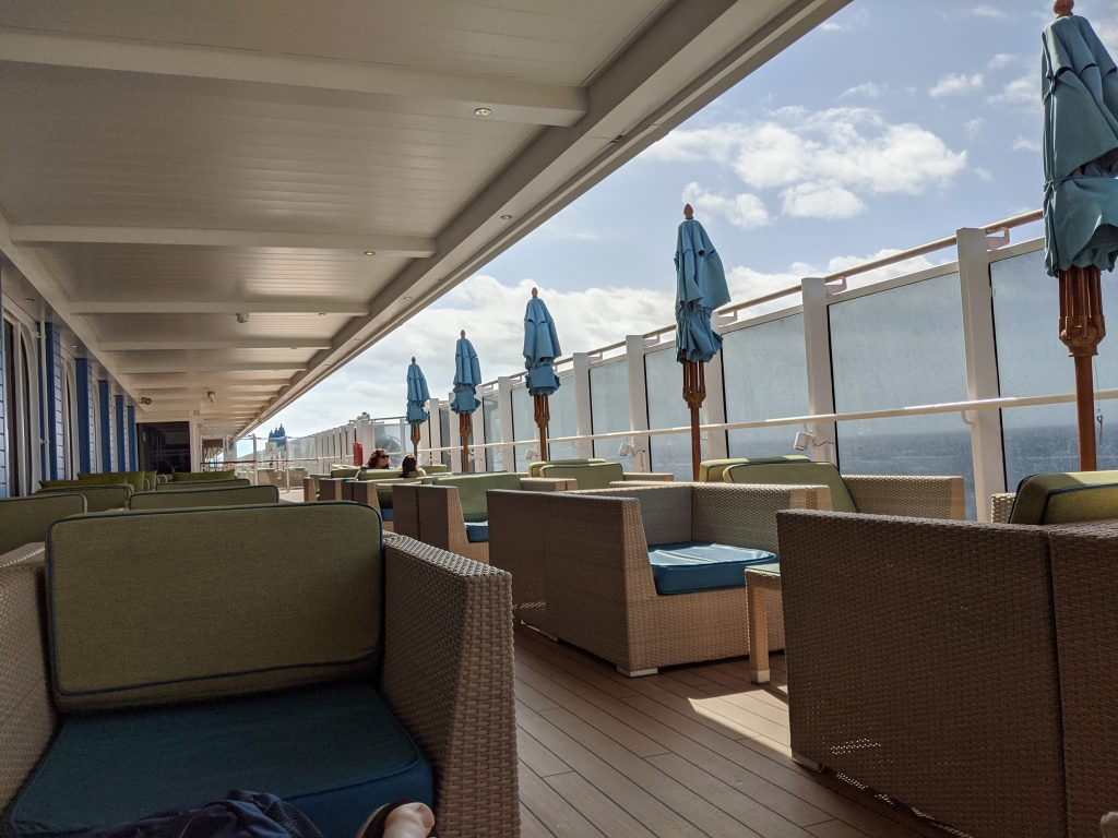 Ocean Plaza / Lanai Seating on the Carnival Horizon