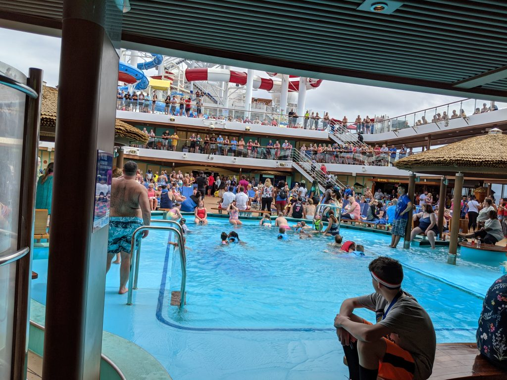 Carnival Horizon - Lido Pool on Sea Day