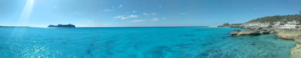 View from the tip of Half Moon Cay