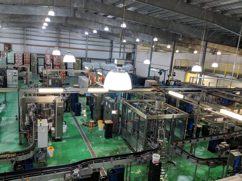 Production Floor of The Bahamian Brewery