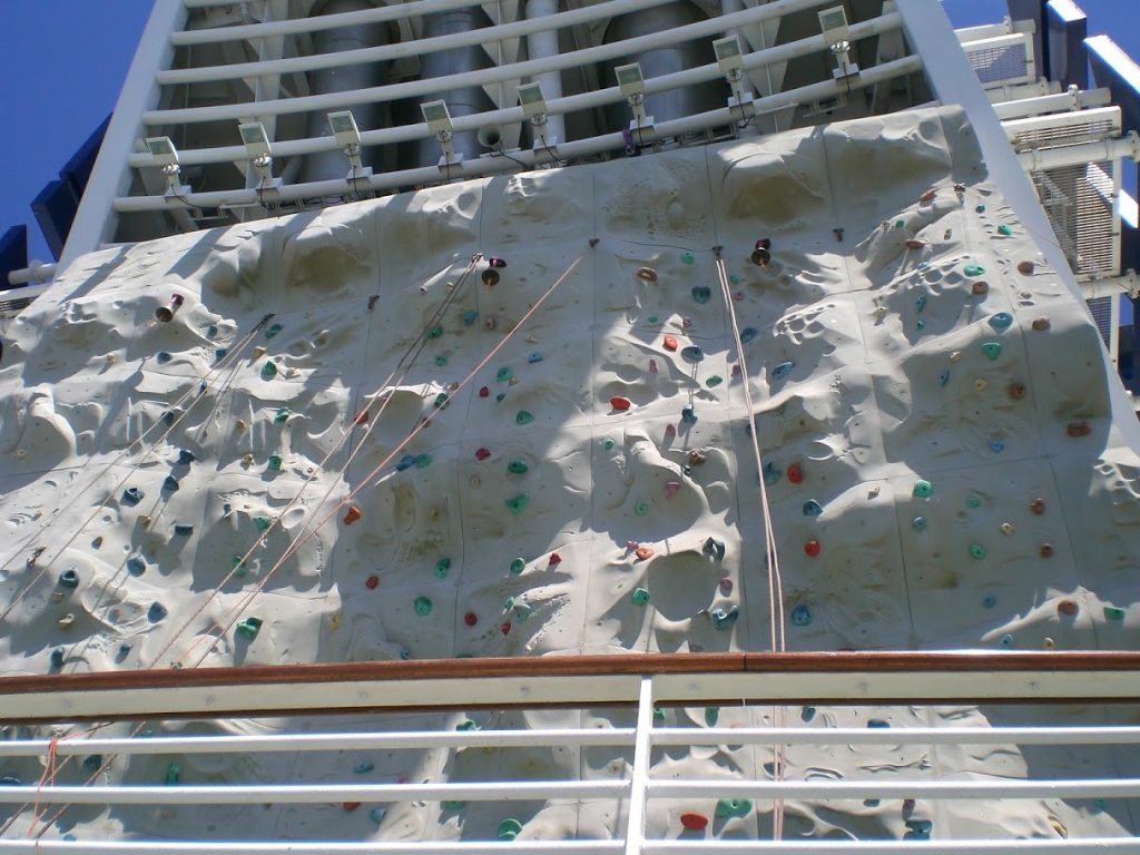 Royal Caribbean's Signature Rock Climbing Wall