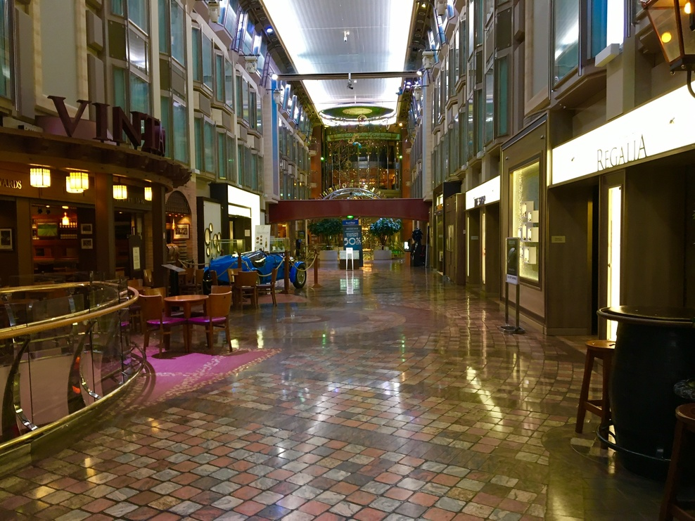 The Promenade on the Navigator of the Seas