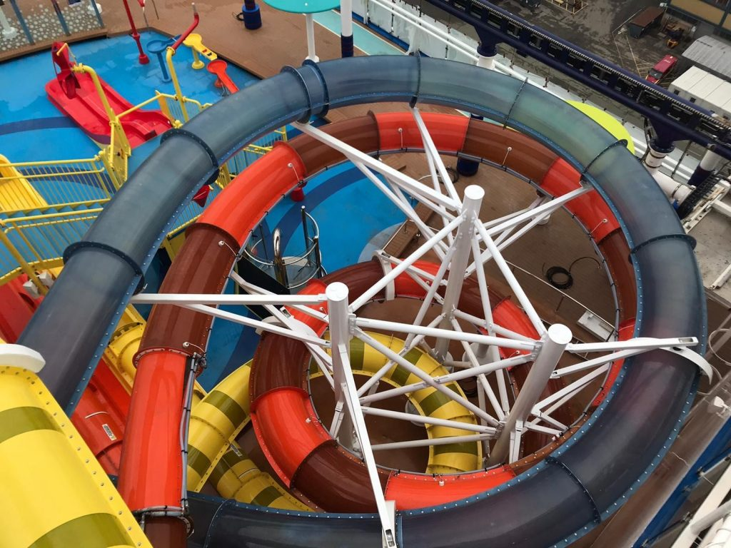 New Water Slides on the Mardi Gras