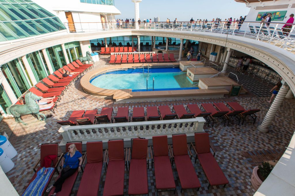 Solarium Adults Only Pool Area on the Navigator of the Seas