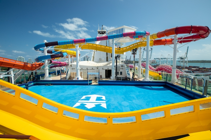 Water Slides on the Navigator of the Seas