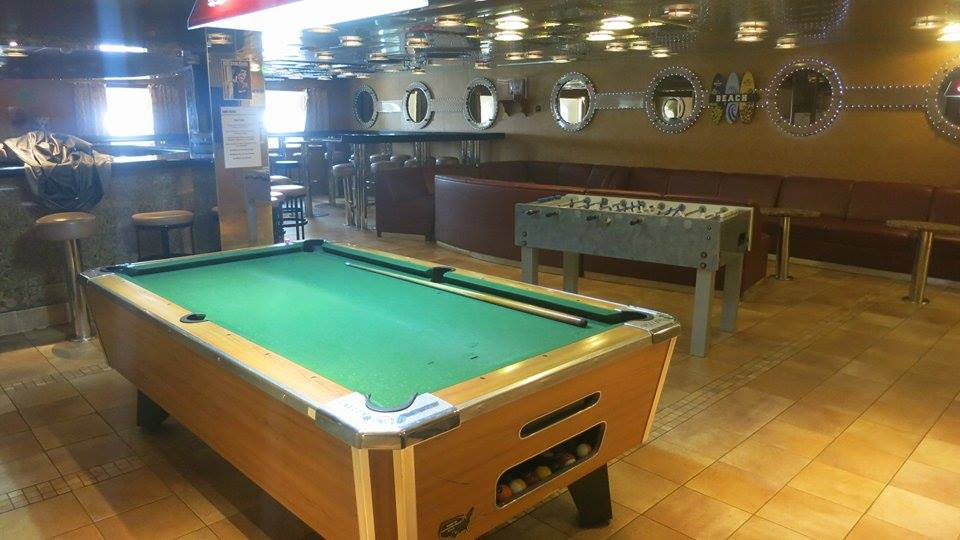 Crew Lounge on a Carnival Ship