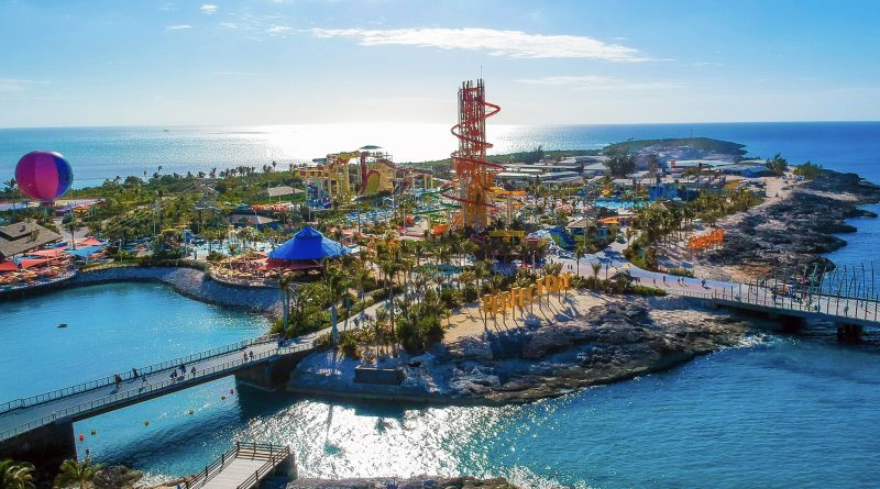Whole island view of Royal Caribbean's Perfect Day at CocoCay Island
