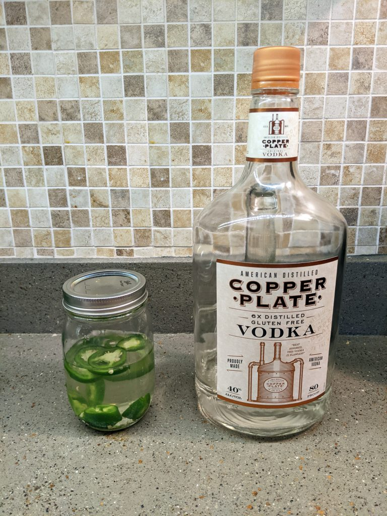 Making jalapeno infused vodka