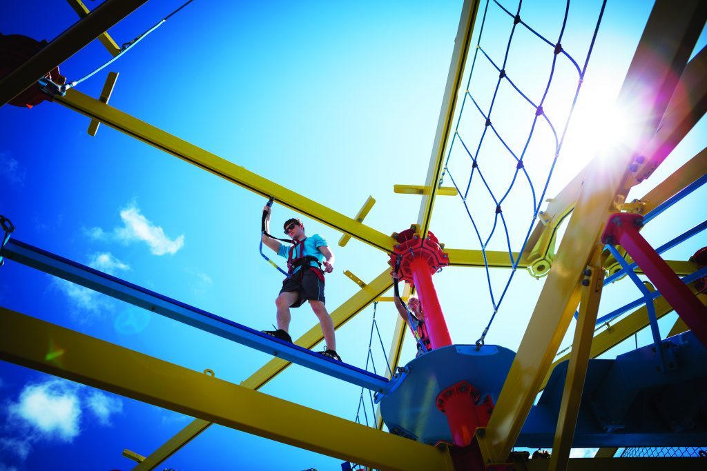Pushing Your Limits On A Cruise Ship's Ropes Course