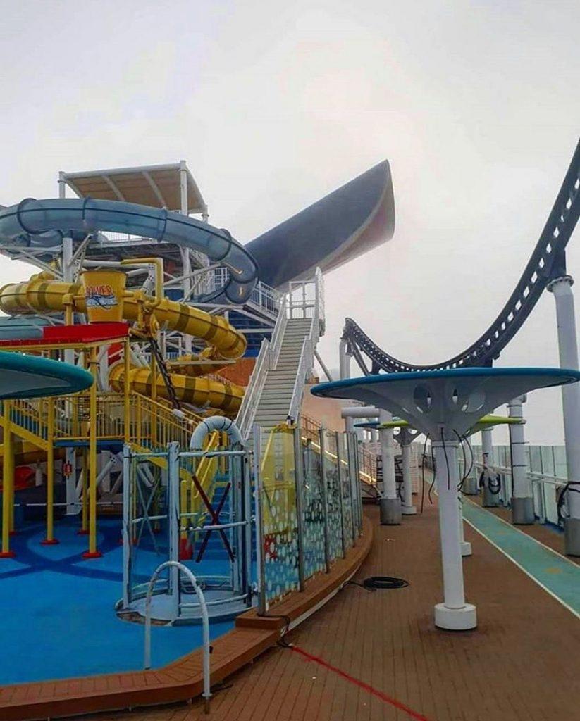 Water slides and splash park on the Carnival Mardi Gras