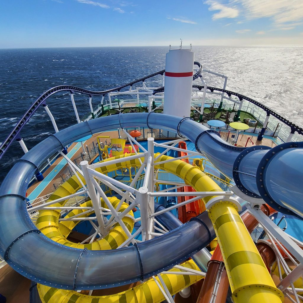 Waterslides and bolt coaster