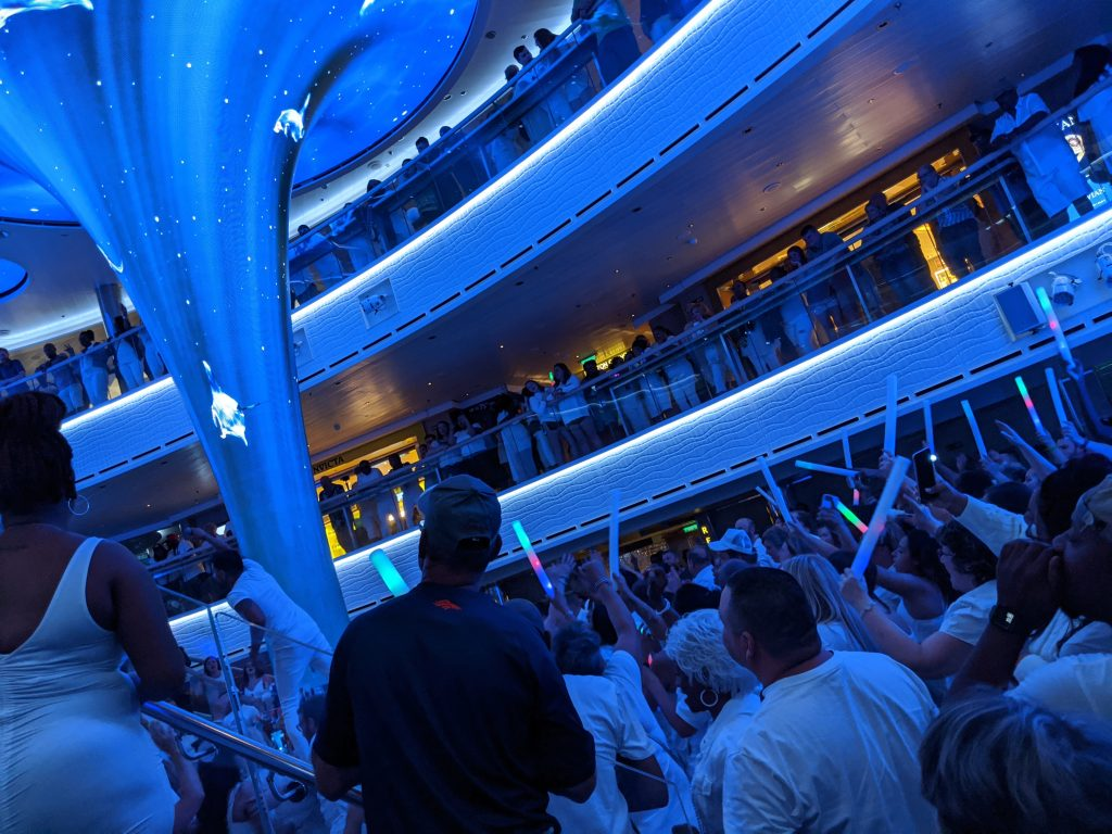 Electric White Night Party on the Carnival Horizon