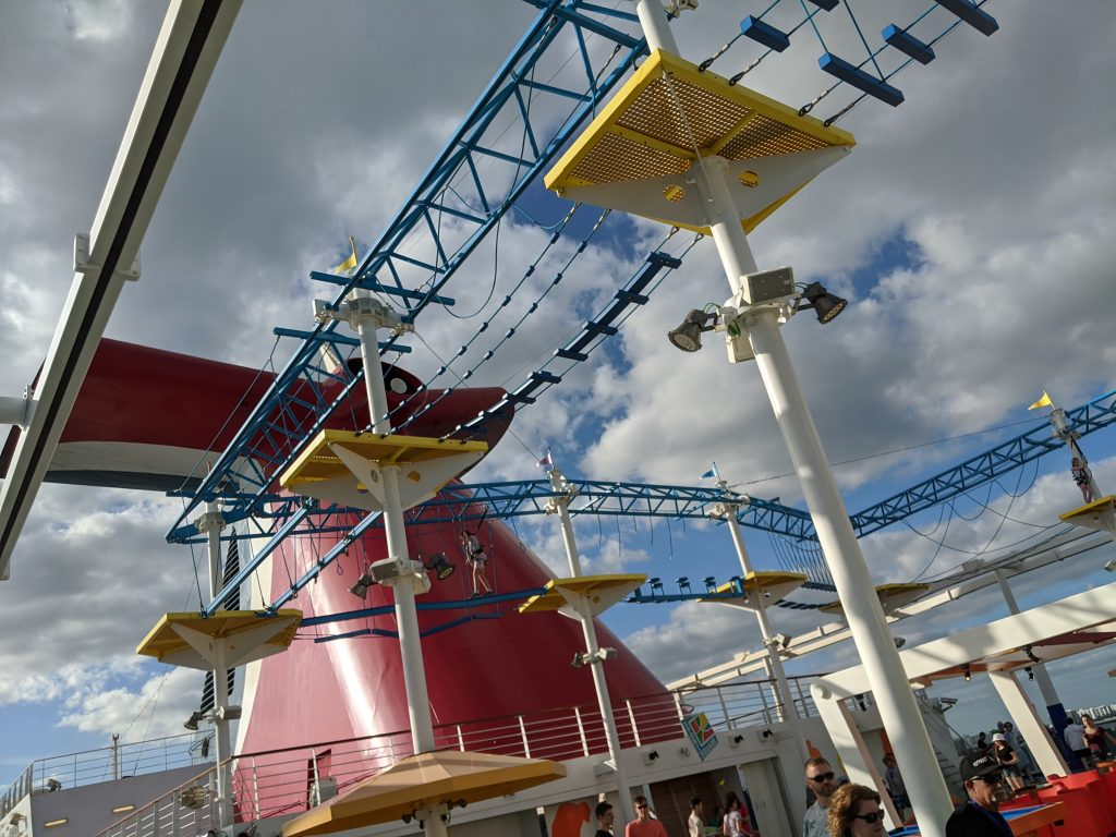 Ropes Course on the Carnival Horizon