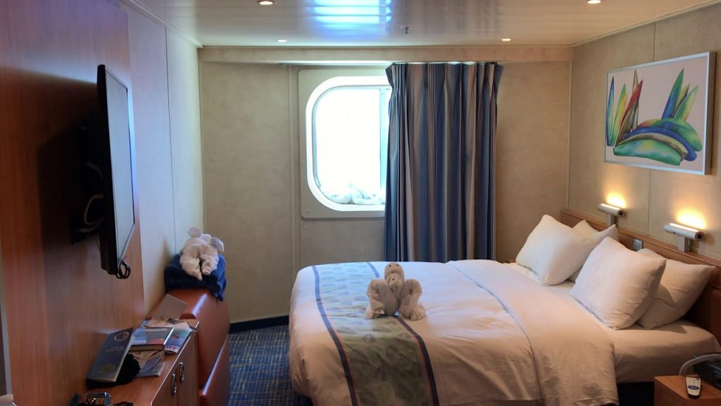 An Oceanview Cabin on the Carnival Sunshine with Towel Animal