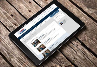 Costco Travel Website on an iPad
