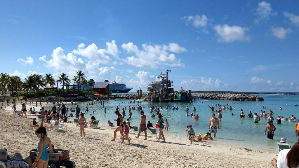 Water playground at Castaway Cay