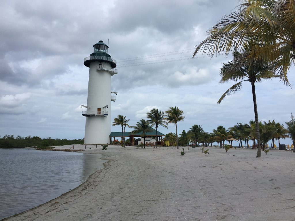 Light House with Zip Line at Harvest Caye