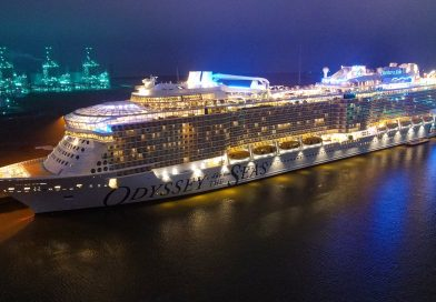 Odyssey of the Seas at Night