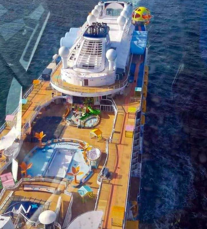 Caribbean themed pool area and splash park