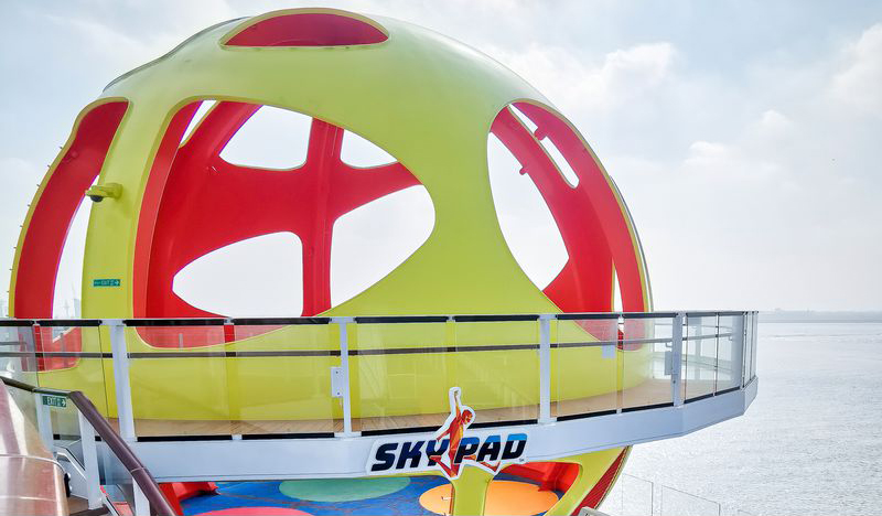 Sky pad trampoline activity pod