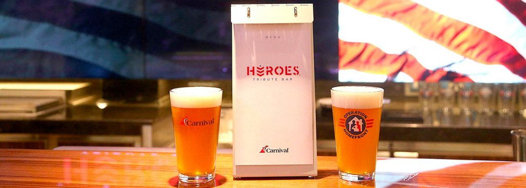 2 pints of beer from Heroes Tribute Bar