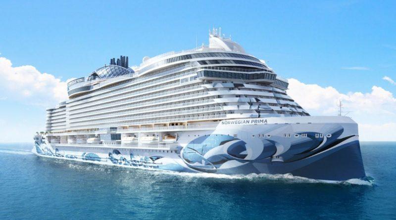Cruise Ship the Norwegian Prima on the Ocean