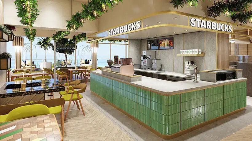 Starbucks on the Norwegian Prima
