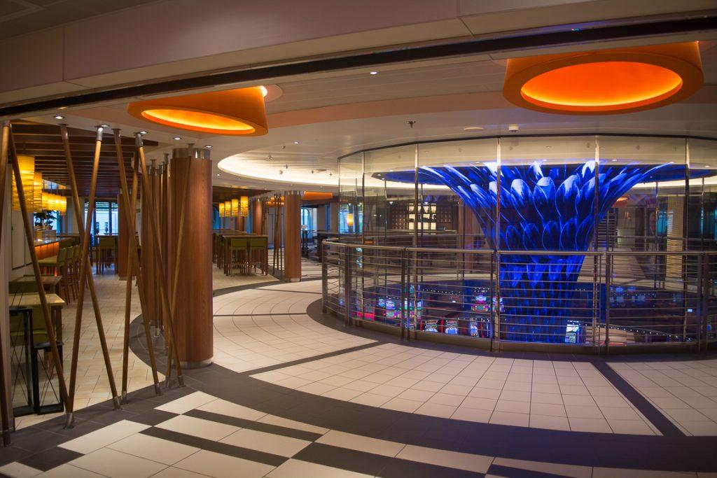 Casino Atrium with Dreamscape Funnel on the Carnival Horizon