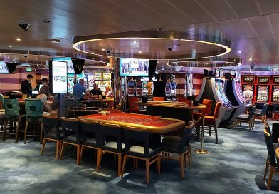 Casino with slots and tables on the Carnival Breeze