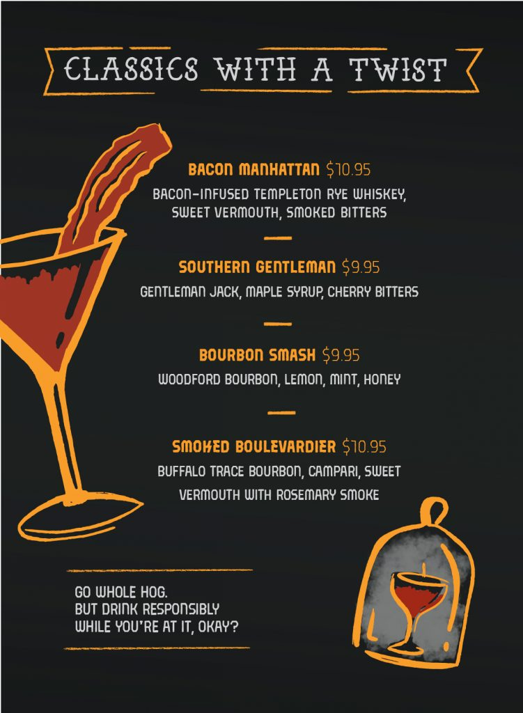 Drink Menu for Guy's Pig & Anchor Smokehouse / Brewhouse on Carnival Horizon