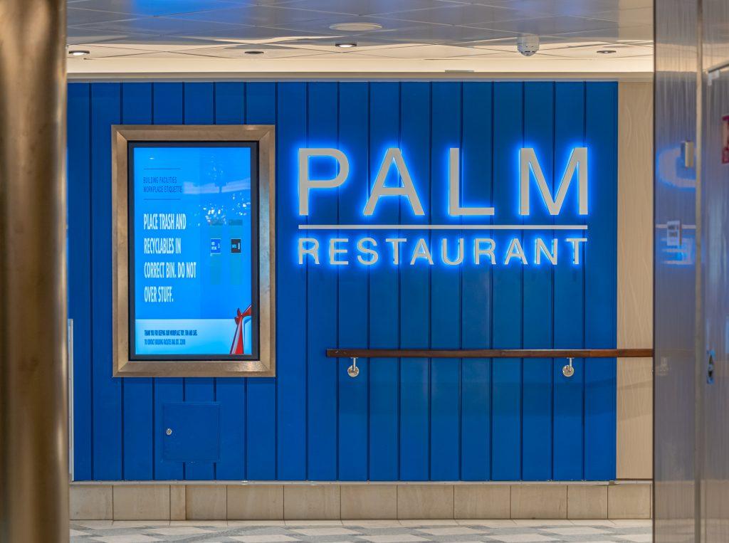 Palm Restaurant main dining room on the Carnival Mardi Gras