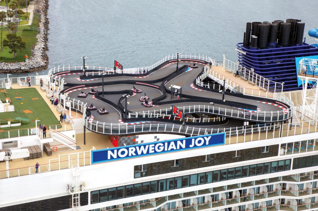 Race track on the Norwegian Joy