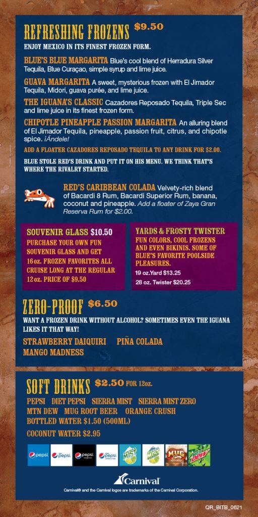 Carnival Blue Iguana Tequila Bar Menu - Page 3