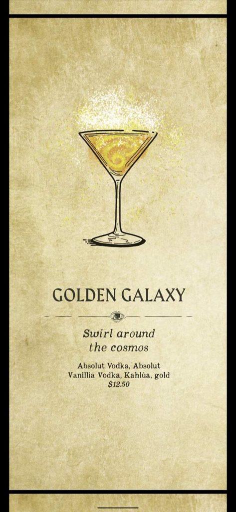 Fortune Teller Bar Menu on the Carnival Mardi Gras - Golden Galaxy