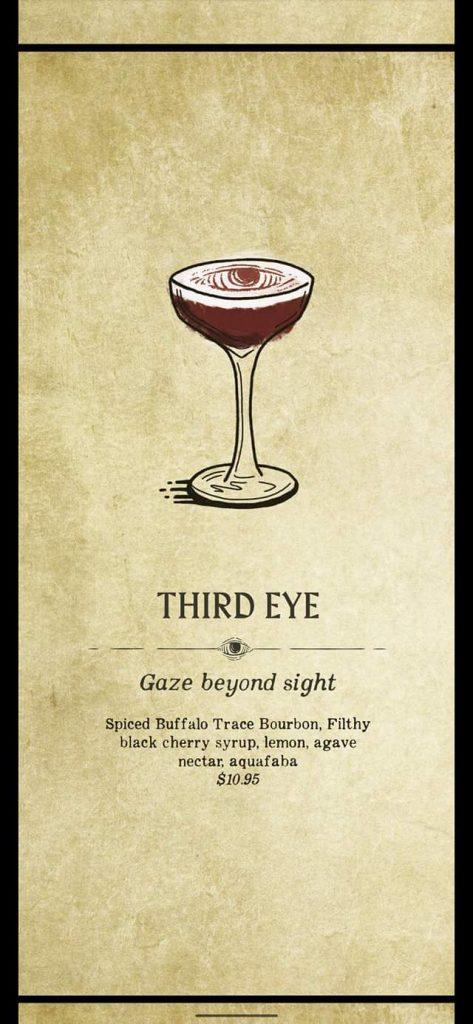Fortune Teller Bar Menu on the Carnival Mardi Gras - Third Eye