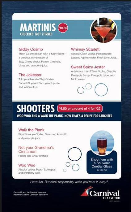 Punchliner Comedy Club Drink Menu - page 2