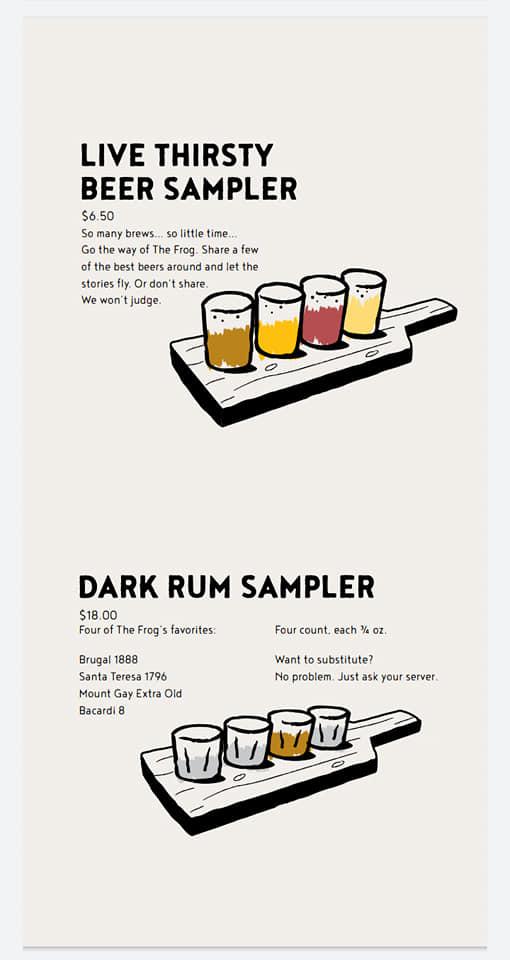 Carnival Red Frog Pub Drink Menu Page 3