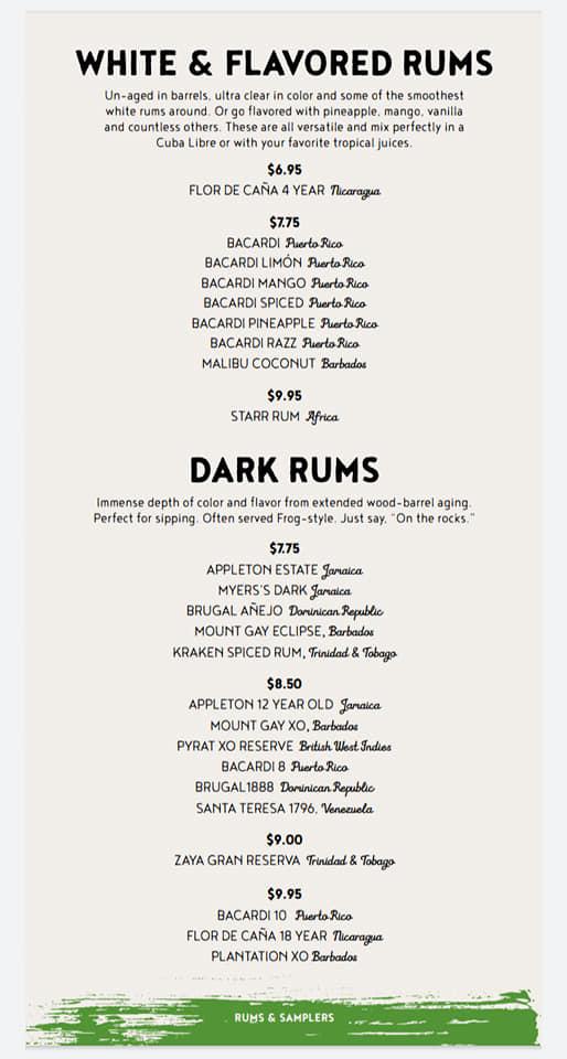 Carnival Red Frog Pub Drink Menu Page 4