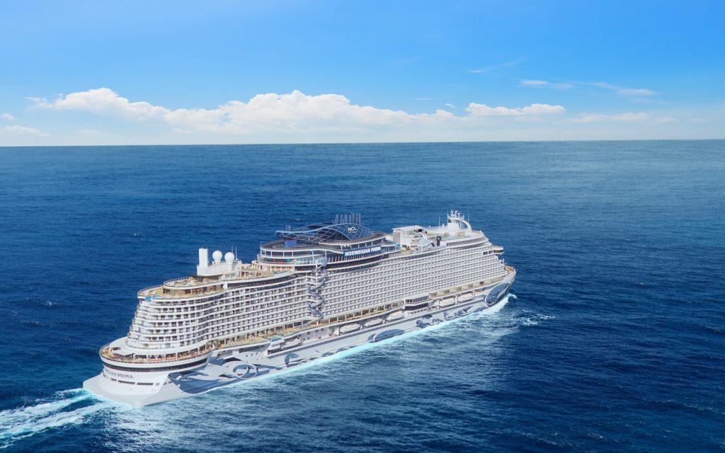 norwegian prima cruise ship on the ocean