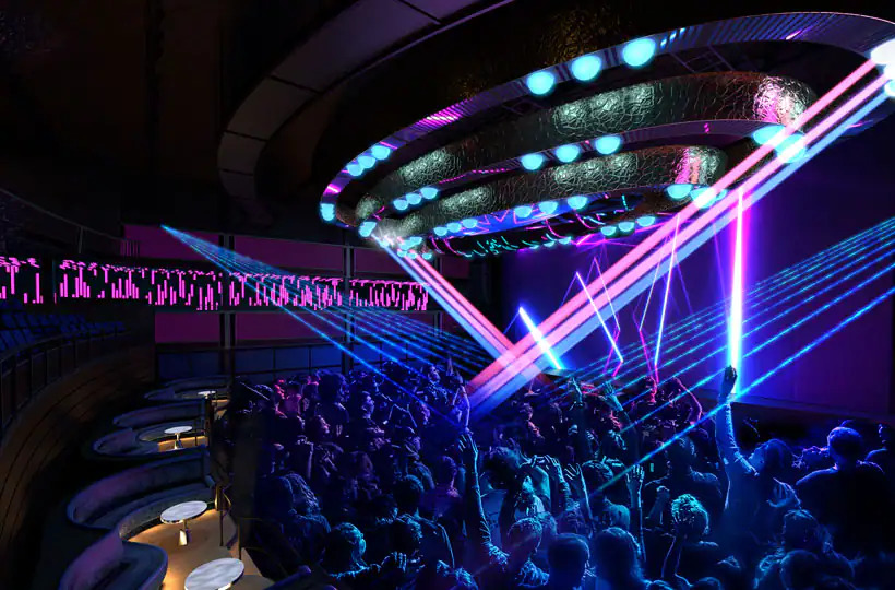 dance club on Norwegian Prima