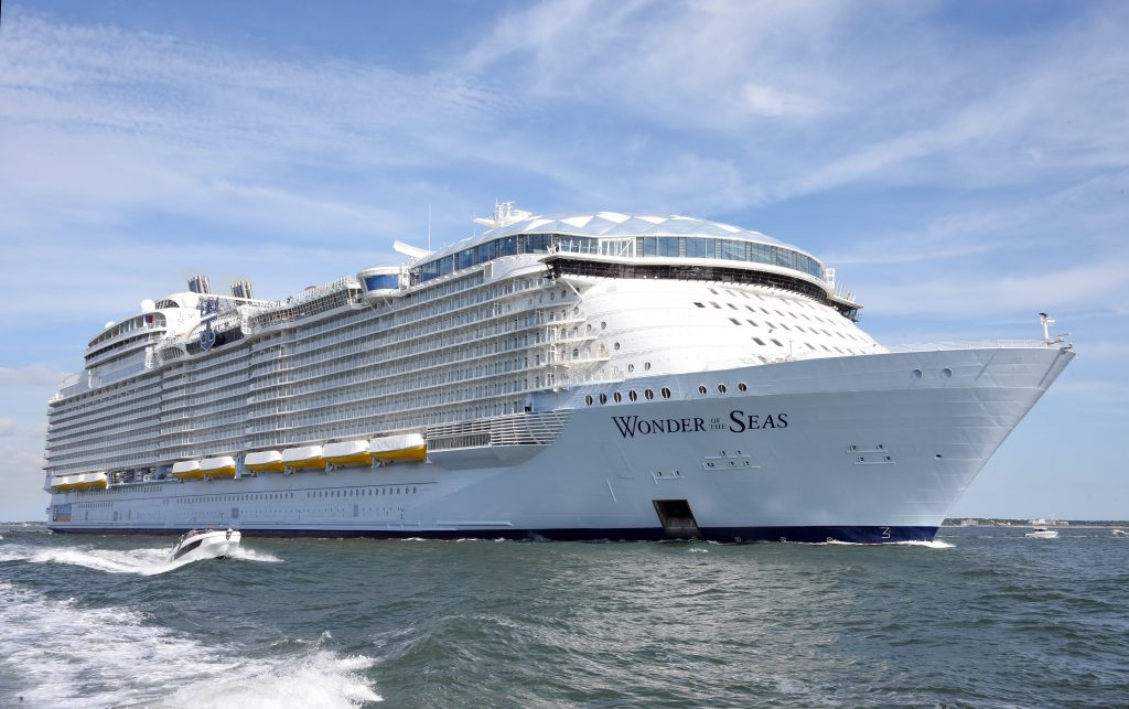 Royal Caribbean Wonder of the Seas on the Ocean