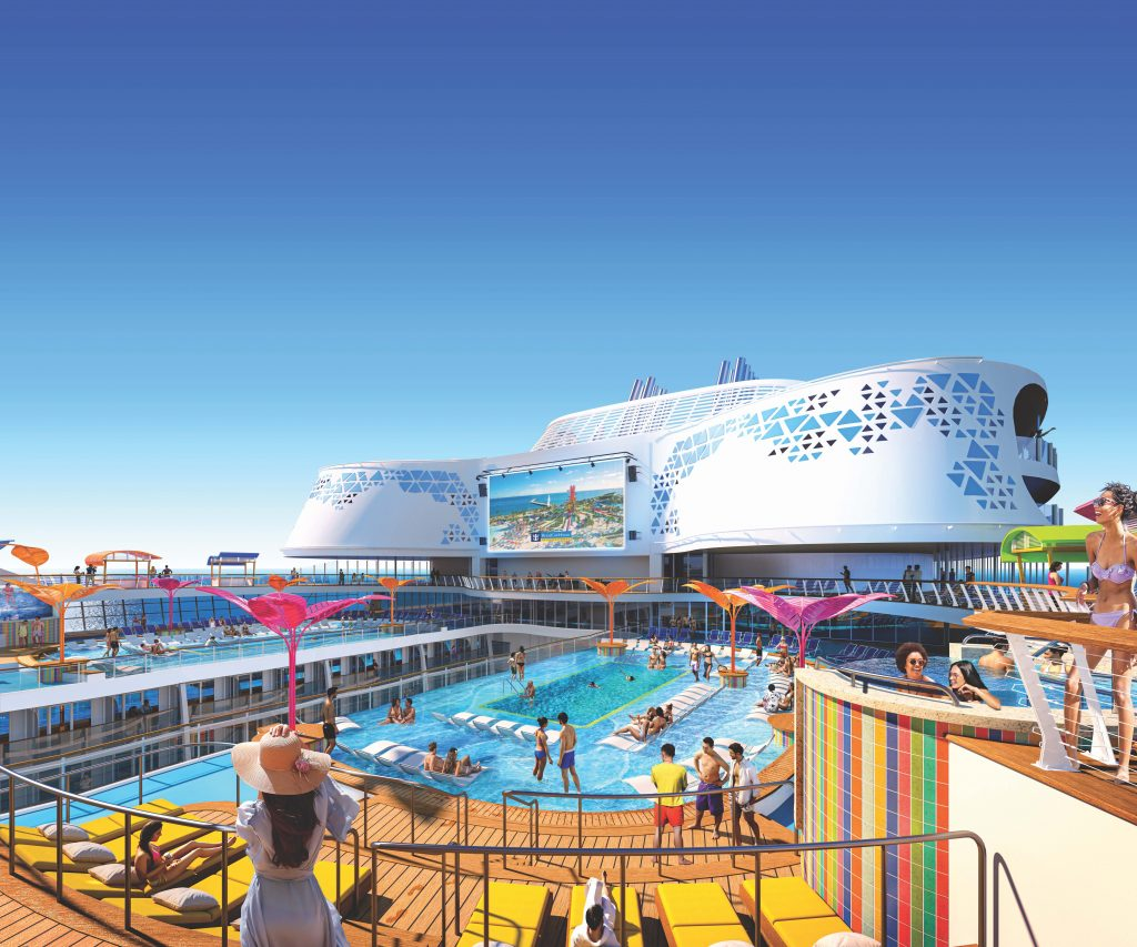 Pool deck on Royal Caribbean's Wonder of the Seas
