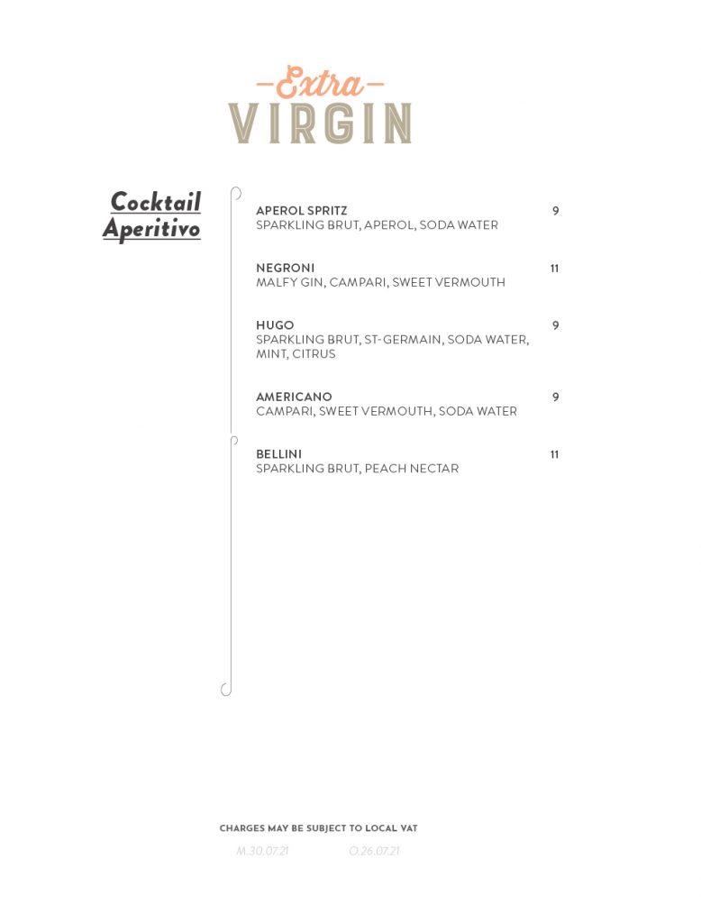 Virgin Voyages Extra Virgin Menu Page 6