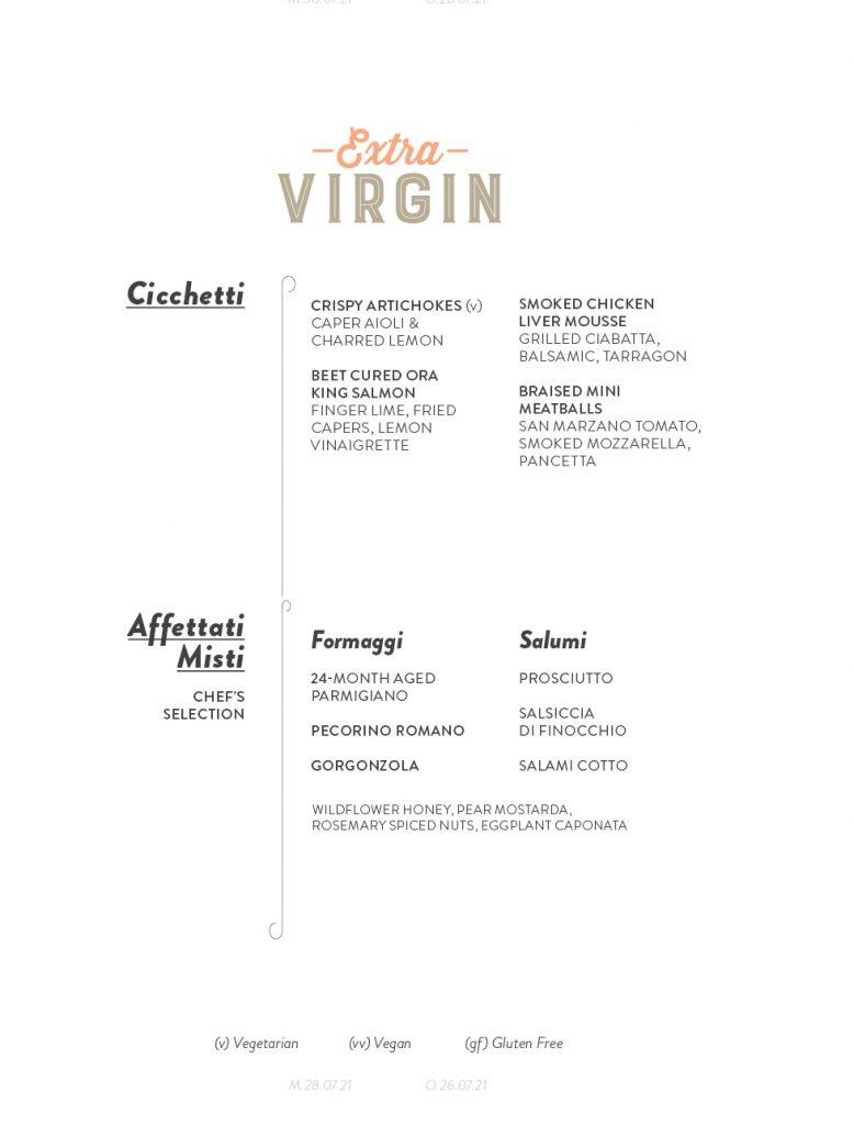 Virgin Voyages Extra Virgin Menu Page 7