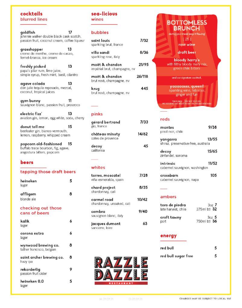 Virgin Voyages Razzle Dazzle Menu Page 4